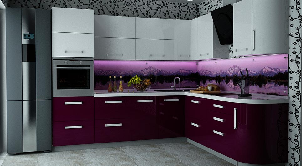 Акриловые кухни дизайн